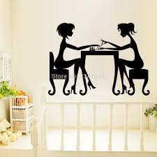 compare prices on beautiful wall decals online shopping buy low two beauty salon girls manicure wall decal sister funny time removable vinyl wall art mural sticker