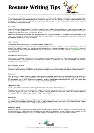 writing tips to create or update your resume simple resume format