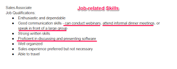 Sale Associate Job Description On Resume by 30 Best Examples Of What Skills To Put On A Resume Proven Tips