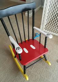 Rocking Chair For 1 Year Old Diy Mickey Mouse Rocking Chair U2026what A Fun Way To Upcycle An Old