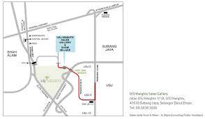map usj 2 avalon 2 usj height our developments property development