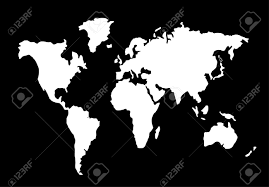 Black World Map by World Map Silhouette Black And White Royalty Free Cliparts