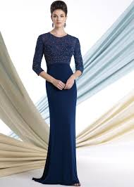 montage by mon cheri 213963 navy blue beaded jersey mother of the