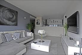 salon gris taupe et blanc image décoration salon gris et blanc