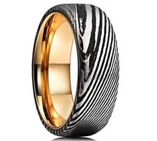 damascus steel wedding band damascus ring ebay