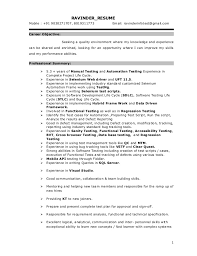 Manual Testing Experience Resume Sample by Manual Testing Experienced Resume Software Bug Roles And