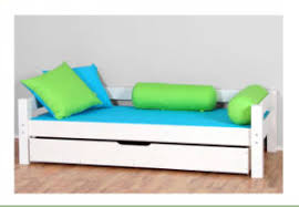 china white color children sofa bed made by solid wood m x1100