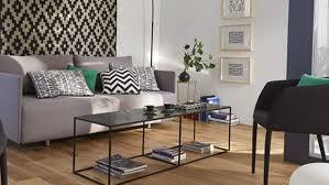 idée canapé idee deco salon canape noir avec tapis de couloir pour idee deco