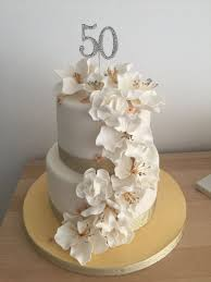 50 birthday cake 50th birthday cake with fondant flowers cakecentral