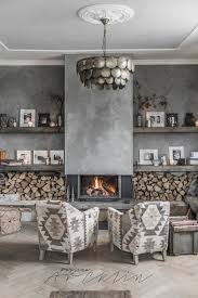 Decorative Home Interiors by Grey Farmstyle Living Room With Fireplace Living Room Blog