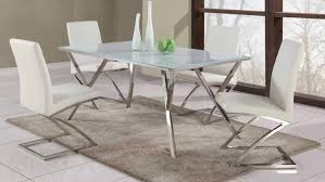 Gloss White Dining Table And Chairs Chair Asbury Modern White Dining Chair With Chrome Legs Modern