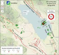 De Anza Map San Andreas Fault Map Earthquake Advisory U2013 Temblor Net