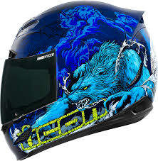 kbc motocross helmets airmada thriller blue products ride icon helmets