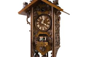 Antique Cuckoo Clock Railroad House Cuckoo Clock With Delicate Ornaments Music And Dancers
