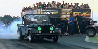 jeep ford watch ford 400 powered jeep cj drag racer ford authority