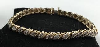 gold plated sterling silver bracelet images Gold plated sterling silver 925 50tcw diamond tennis bracelet 7 jpg