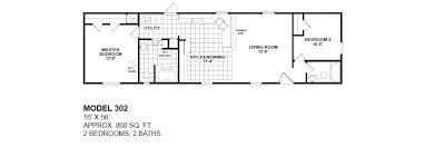 Skyline Mobile Home Floor Plans 2 Bedroom 14 X 70 Mobile Homes Floor Plans Homes Manufactured
