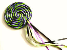 halloween purple green and black swirl lollipop wand halloween