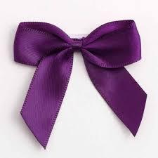 ribbon bows aubergine satin ribbon bows wedding paraphernalia
