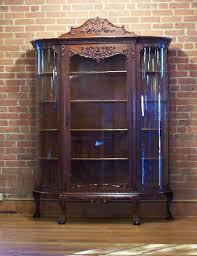 Victorian Secretary Desk by Antique Oak Side By Side Bow Front Bookcase U0026 Desk Beveled Mirror