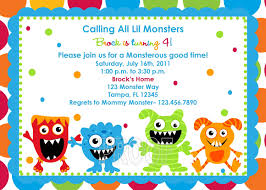 How To Make Birthday Invitation Cards At Home Adorable Monster Birthday Invitations