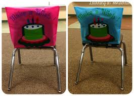 birthday chair cover monday made it with a freebie learning in