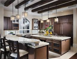kitchen with 2 islands medium sized kitchen with two islands one island is 2 levels for