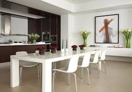 Contemporary Glass Dining Room Sets White Leather Dining Room Set White Leather Dining Room Chairs