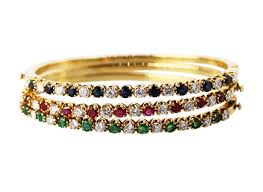 colored stone bracelet images Bracelets set of three 18 karat yellow gold diamond and multi jpg
