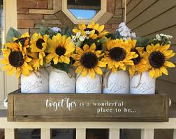 sunflower centerpieces sunflower decor etsy