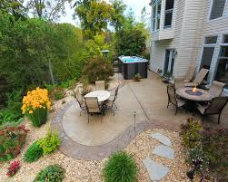 Backyard Flooring Options - pool spas garden design ideas landscaping design red outdoor