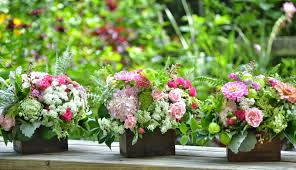 wedding flowers from springwell wooden boxes for centerpiece designs