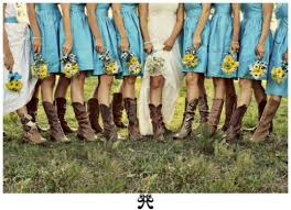 cowboy boots wedding bridesmaid trade blog