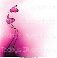 clipart of two pink butterflies and gradient pink to white