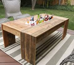 Patio Table Beer Cooler Chest Table More Coffee Table Diy Table Diy Patio Table Patio