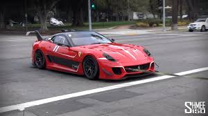 599xx evo startup on the road in los angeles