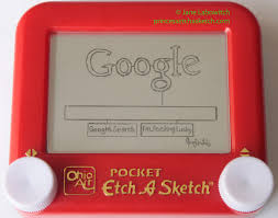 google on my etch a sketch by pikajane on deviantart