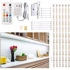 kitchen cupboard overhead lights counter light dimmable led cabinet lighting 6 pcs led light bars with remote for