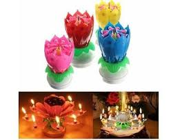 birthday candle flower musical flower rotating birthday candles iconix