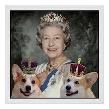 queen elizabeth dog queen elizabeth ii and her corgi dogs poster zazzle com