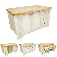 white kitchen island with smaller drawers isl05 awh