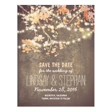 rustic save the date cards string lights rustic save the date postcards zazzle