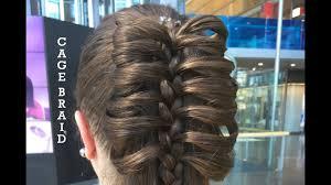 hair plait with chopstick cage braid tutorial youtube