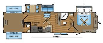 2 Bedroom 5th Wheel Floor Plans Travel Trailer 2 Bedroom 2 Bathroom Will Actually Fit 4 6 Kids