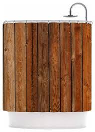 susan sanders rustic wood wall nature brown shower curtain
