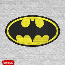 Greece Flag Emoji Batman Logo Patch Embroidery Design