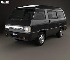 van mitsubishi delica mitsubishi delica star wagon 4wd glx 1982 3d model hum3d