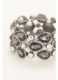 rhinestone bracelet images Pear shaped stones pave rhinestone bracelet david 39 s bridal