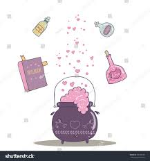 halloween decorations potion bottles halloween decoration bottle jar pink hearts stock vector 309786728