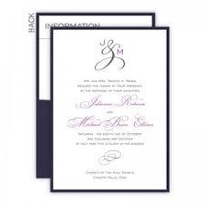 monogram wedding invitations the american wedding monogram wedding invitations